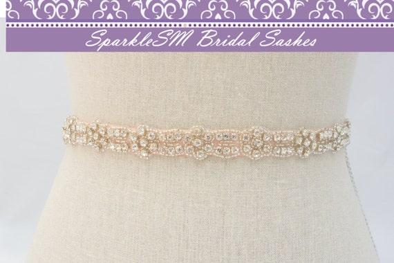 Bridal Sash, Wedding Sash, Bridal Belt, Crystal Bridal Sash, Rhinestone Sash, Jeweled Belt, Bridal Belt, Wedding Gown Belt, Sash -Jacqueline