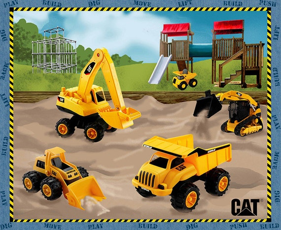 Tractor Technology Panel : Caterpillar cat vehicles in the sandbox panel cotton
