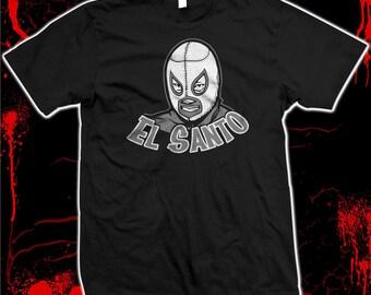 El Santo - Lucha Libre - Luchador - Hand Screened, Pre-shrunk 100% cotton t-shirt