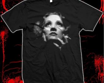 Marlene Deitrich - Pre-Shrunk, hand screened 100% cotton t-shirt