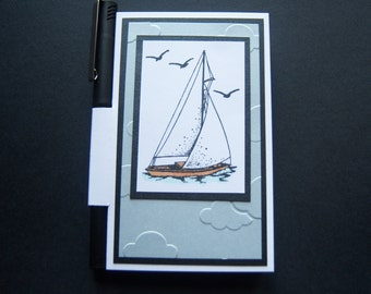 A Day of Sailing 3 x 5 Notepad Holder with Pen
