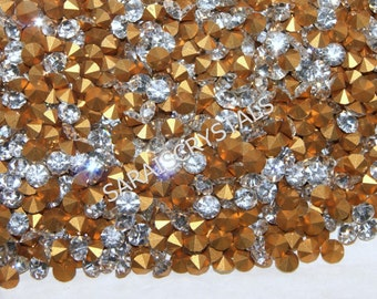 50 pcs Swarovski Crystal Vintage Rhinestones Pointed Back Chatons Crystal Clear 16pp (2.2-2.3mm) pp16