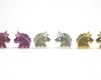 Unicorn Earrings - Handmade - Laser Cut Jewelry - Laser Cut