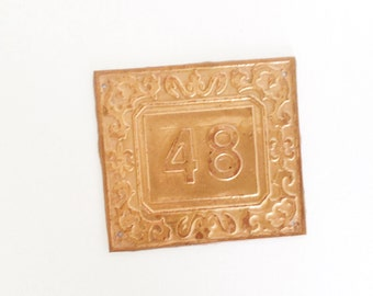 48 Door number use for home decor, assemblage, art , photography prop