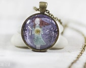 Blue Jewelry - Jewelry - Blue Necklace - Art Jewelry - Unique Jewelry - Vintage Style Jewelry (7-4N)