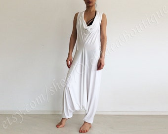 LOUNGE jumpsuit overall harem pants summer beach cover up fashion casual oversized