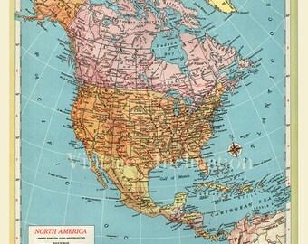 LARGE Antique Vintage JAPAN Map Original S - Japan map large size