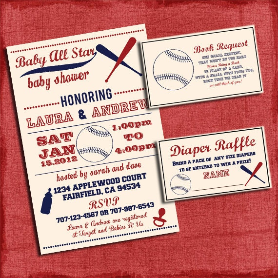 Baseball Themed Baby Shower Invitations for your inspiration to make invitation template look beautiful