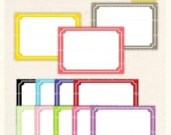 ON SALE Square Frame Clip Art _ Square Frames Cipart, digital scrapbooking frames.A-38 , Instant download