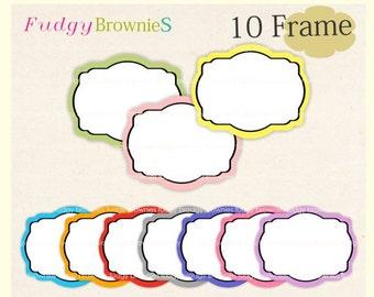 ON SALE Digital frame, circle frames clipart, white background frame, digital scrapbooking frames.A-17 , Instant Download