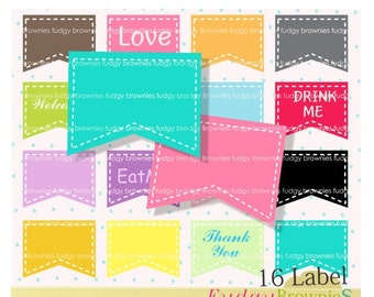 ON SALE Digital Label, 16 scrapbooking label.L-10 , instant download lable clip art