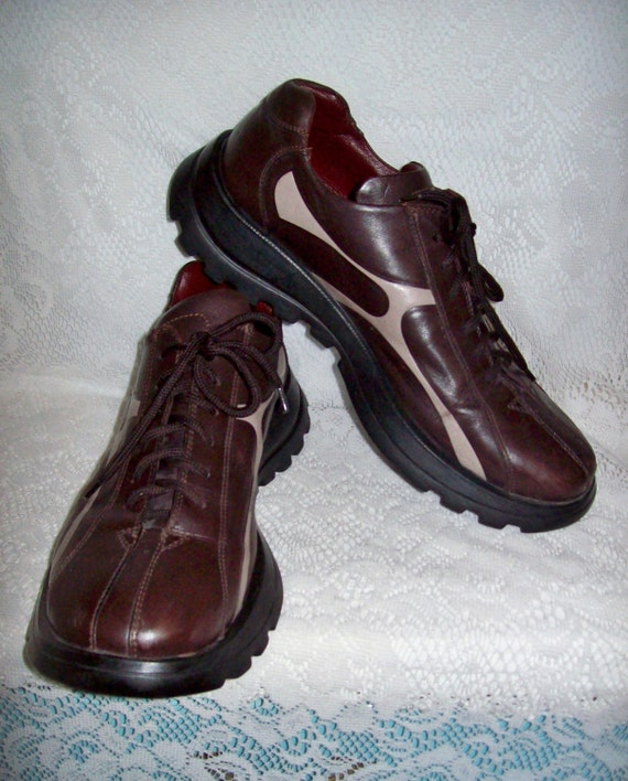 vintage s brown leather oxfords tennis shoes by
