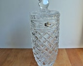 Lead Crystal Lidded Jar Jajecar 24% Lead Made in Yugoslavia