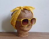 Vintage 80's Sunglasses Yellow Lemonade Oversized Sunnies
