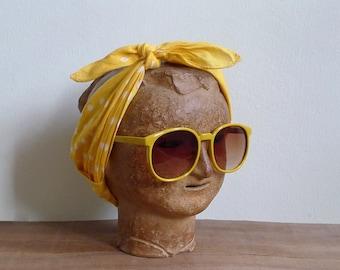 Vintage 80's Sunglasses Yellow Lemonade Oversized Sunnies