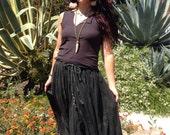 Boho Gypsy Skirt// Vintage Indian Gauzy  Skirt // 1970s gauze skirt