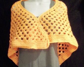Melon Crochet Stole Wrap - Prayer Shawl - Bridal Shawl