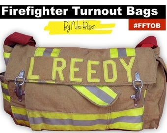 The Original Firefighter Turnout Messenger Bag by Niki Rasor