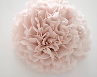 Dusty pink  tissue paper Pom Poms
