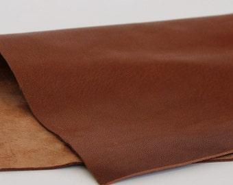 Brown  Genuine Leather, Soft Sheep Skin