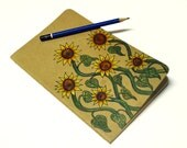 Sunflower Illustrated Moleskine Notebook