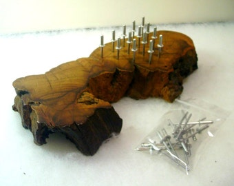 Hand Crafted Burl Wood Peg Game with Extra Pegs - No. 1494