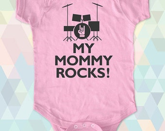 My Mommy Rocks Gift Baby One-Piece, Infant Tee, Toddler, Youth Shirts