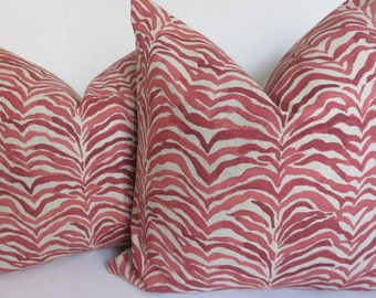 Red pillow cover, Zebra red pillow cover, Beige zebra pillow, Beige pillow cover, Natural pillow cover, Decorative pillow, Pillow cover