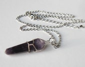 Amethyst Necklace, Gift for Her, Metaphysical Jewelry, February Birthstone, Gemstone Necklace