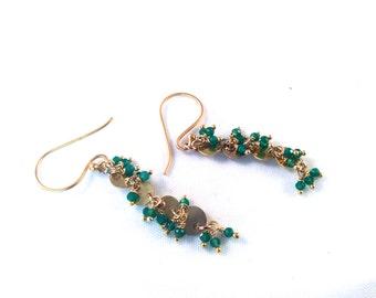 Preston  earrings, green onyx
