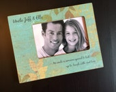 Uncle Gift Brother Gift Personalized Wood 4x6 Picture Frame Uncle Keepsake Custom Design Choice