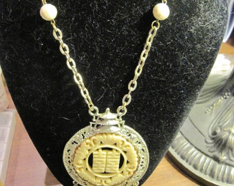Vintage Chinese Ornate Medallion Wedding Necklace