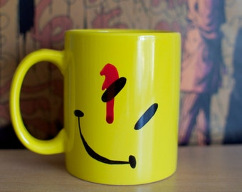 Watchmen Comedian's Bloody Smiley Hand Painted Mug