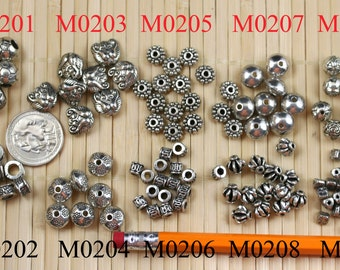 Antique Silver Finishing Bali Beads