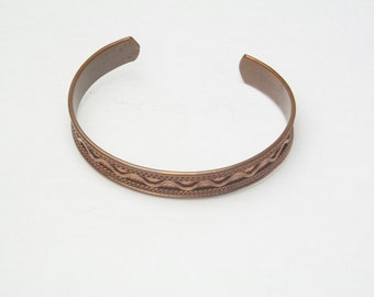 Vintage Copper Bracelet Bangle Style Costume Jewelry