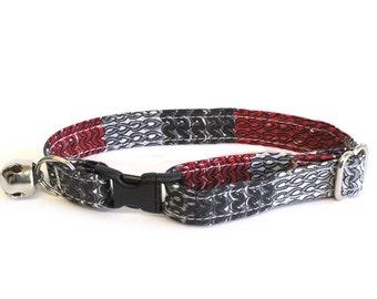 Wool Scarf adjustable breakaway cat collar