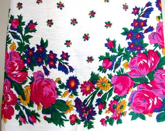 Vintage  Turkish shawl, floral scarf,square scarf, square shawl