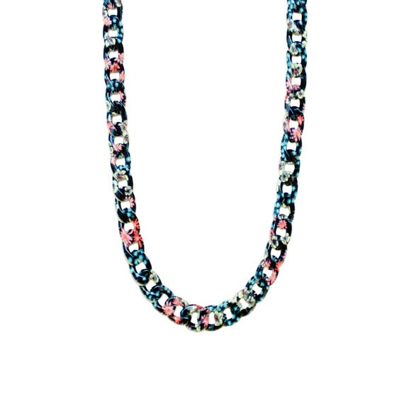 Retro Garden Chain Necklace - Midnight