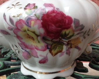 Vintage China teapot floral with gold gilt