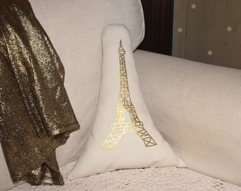 For Gillian Barbara - Silver Eiffel Tower Pillow -  Silver Paris Eiffel Tower cushion - More Sizes Avalaible