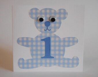Blue Teddy Bear no. 1