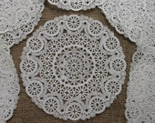 18 Vintage Paper doilies, paper doily lot, scrapbooking, journal making, paper art, paper tag embellishment supply lot, shabby chic, 26P