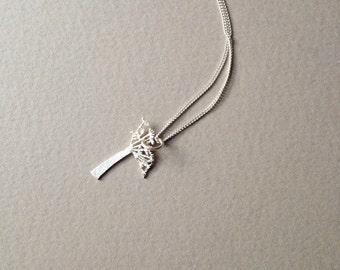 Cow Parsley Pendant Necklace