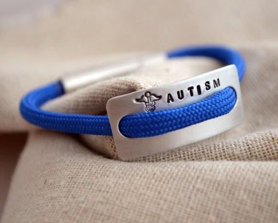 Children S Medical Alert Bracelet Hand Stamped Autism
