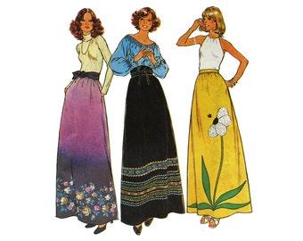 Maxi Skirt Hippie Skirt McCall's 7190  Pattern