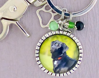 Personalized Dog Photo Keychain or Necklace, Cat keychain, Pet photo Keychain, Purse Clip, Pet Mom, Dog Lover, Dog Memorial, Cat Memorial