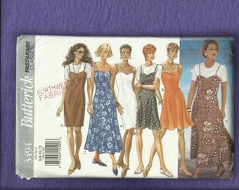 Butterick 3494 Sun Dresses with Fitted Bodice & Flared or Pencil Skirt Size 6 to 12