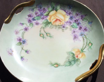 Lovely china rose plate