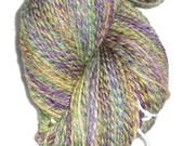 Christmas in July Luxury Handspun Hand Dyed 3-ply  Soft Superwash Merino Bamboo Nylon Hand Dyed Yarn