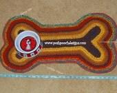 Instant Download Crochet Pattern - Dog Bone Rug